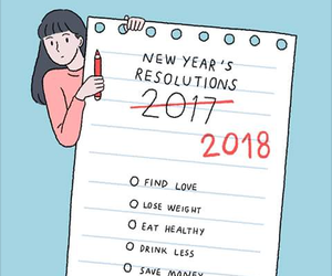 couple, new year, and love image