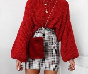 fashion, red, and outfit image