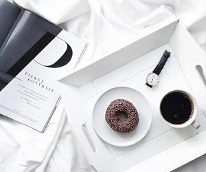 donuts, coffee, and white image