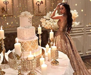 birthday, candles, and gold image