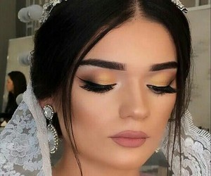 beauty, hair, and wedding image