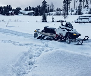 adrenaline, snowmobile, and winter image