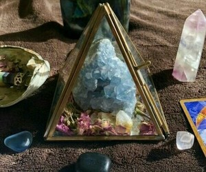 blue, crystals, and witchy image