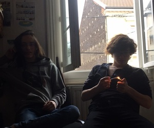 boys, chill, and cosy image