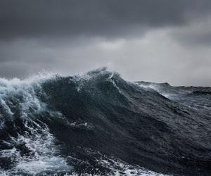 waves, sea, and storm image