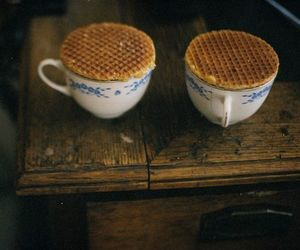 waffles, vintage, and cup image