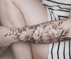 girl, tattoo, and dotwork image