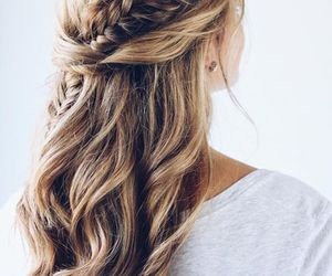 hair, hairstyle, and girl image