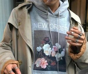 fashion, boy, and flowers image
