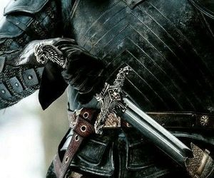 armor, warrior, and sword image