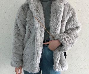clothes, fashion, and fur coat image
