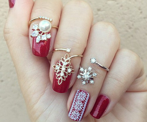 nail art, nails, and rings image