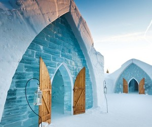 quebec and ice hotel image