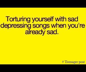 depressing, me, and music image