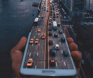cars, city, and مدينه image