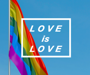 love, pride, and gay image