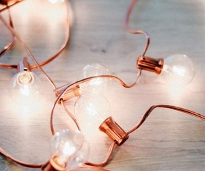 inspiration, lights, and rose gold image