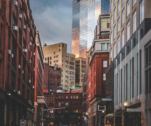 boston, city, and downtown image