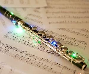 christmas, flute, and lights image