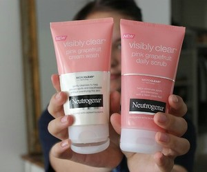 cosmetics, facial, and pink image