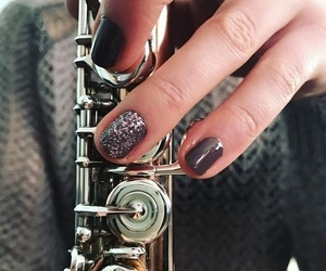flute, glitter, and gray image