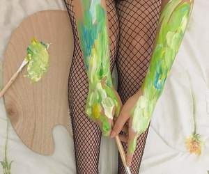 art, green, and legs image