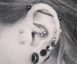 emo, hippie, and Piercings image