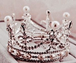 crown, rose gold, and Queen image