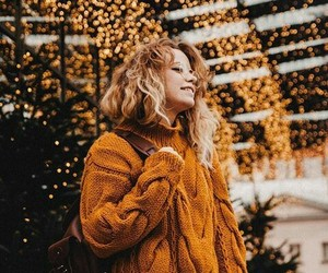 autumn, cozy, and gold image