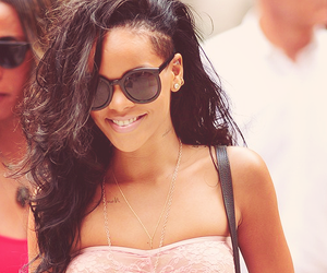 rihanna, sunglasses, and smile image