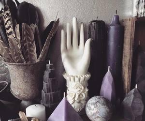 candle, magic, and quartz image