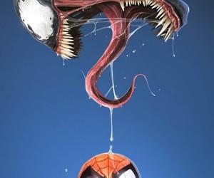 spiderman, venom, and Marvel image