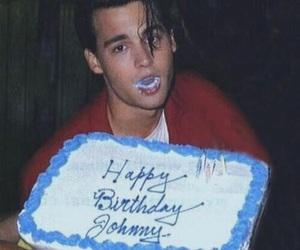 johnny depp, cake, and birthday image