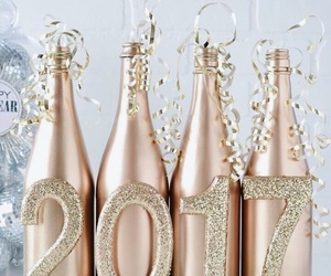 bottles, champagne, and decor image