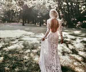 blonde, new year, and wedding dress image