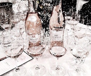 rose gold, champagne, and drink image