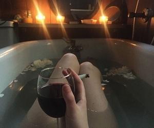 wine, cigarette, and grunge image