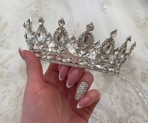 nails, crown, and luxury image