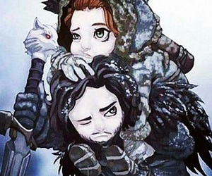 jon snow, game of thrones, and ygritte image