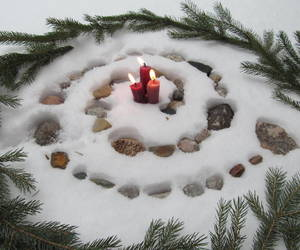 nature, snow, and spiral image
