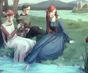 catelyn tully, house tully, and lysa tully image