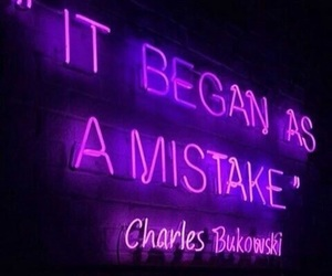 quotes, neon, and purple image