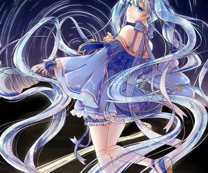 blue, vocaloid, and dress image