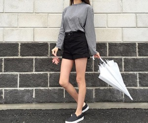 aesthetic, grey sweater, and aesthetic outfit image