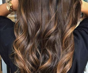 blonde, brunette, and curly image