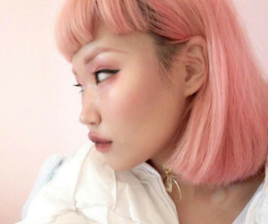 asian, peach, and pink image