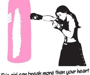 boxing, girl, and quotes image