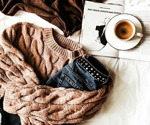 autumn, clothes, and coffee image