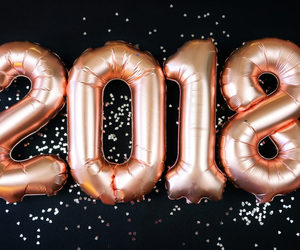balloons, new year's eve, and happy new year image