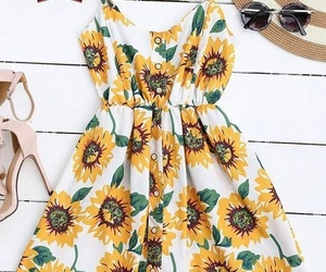 dress, flower, and outfits image